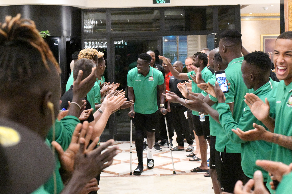 Brian Mandela Received Like a Boss as He Lands With Special Message For Harambee Stars in Egypt