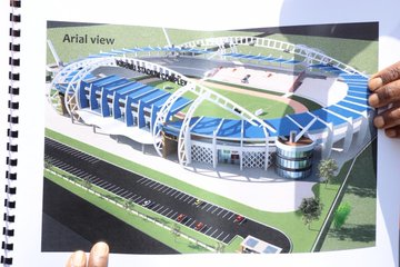 Hope at Last as Sports CS Amina Mohamed Lays Foundation For Construction of State of The Art Stadium in Kisumu