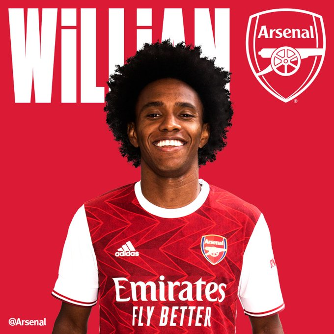 Arsenal Confirm The Signing of Willian From Chelsea