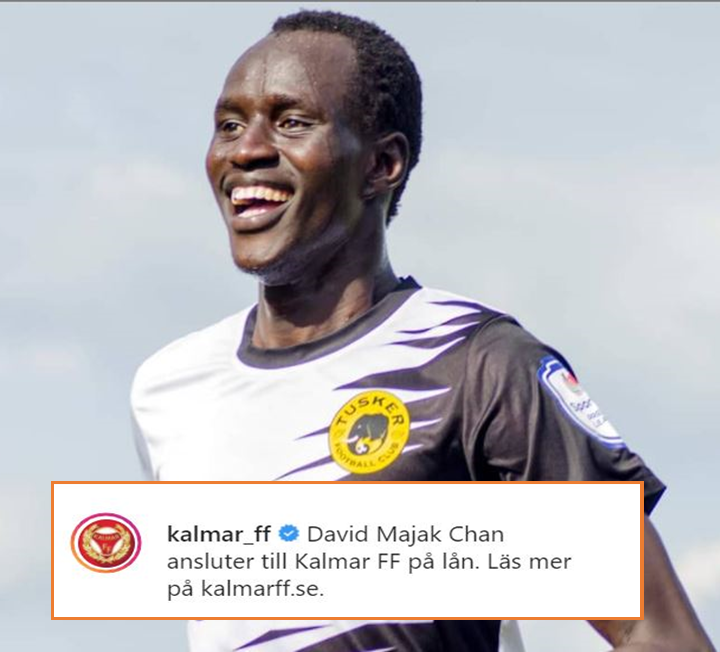 Kalmar FF Confirm the Signing of Tusker's David Majak & Give More Details on the Deal