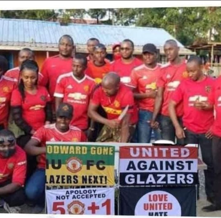 Manchester United Fans in Kenya Join the 'Glazers Out' Protest
