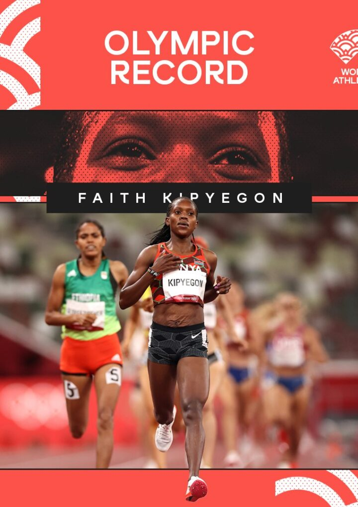 ✨ Faith Kipyegon 🇰🇪✨ smashes the Olympic record as she scoops Gold 🥇