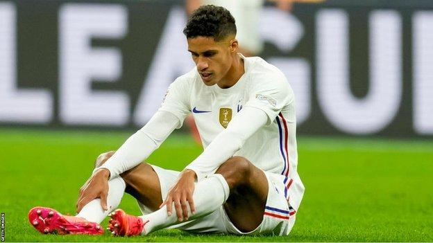 Varane Ruled out for a Few Weeks